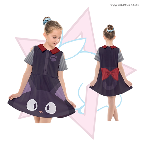 JIJI | CUT OUT SLEEVE DRESS | KIKI'S DELIVERY SERVICE | STUDIO GHIBLI | KIDS