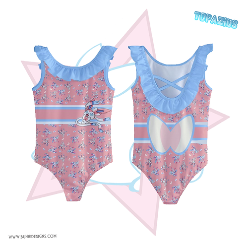 SYLVEON | KIDS' RUFFLE TRIM SWIMSUIT  | POKEMON