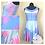 Thumbnail: AURORA PINK SPLATTER  | SLEEVELESS SKATER DRESS | SLEEPING BEAUTY