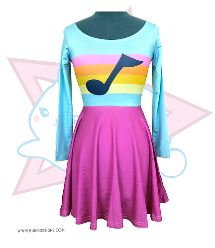 MABEL MUSIC NOTE | SKATER DRESS | GRAVITY FALLS
