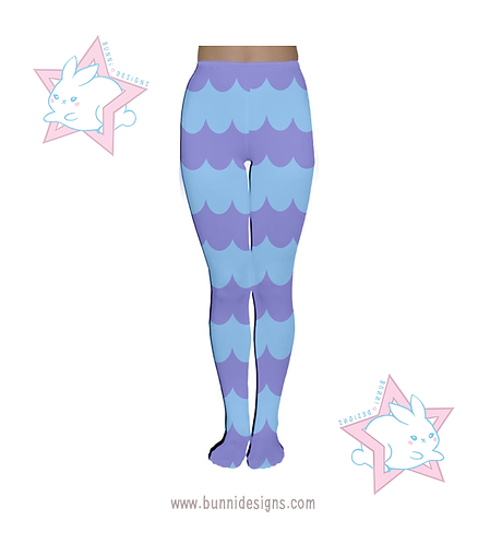 STAR BUTTERFLY BLUE & PURPLE NARWHAL |  TIGHTS / LEGGINGS | SVTFOE