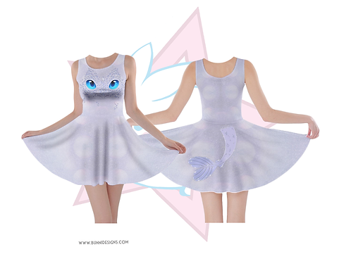 LIGHT FURY | SKATER DRESS | HOW TO TRAIN YOUR DRAGON | HTTYD
