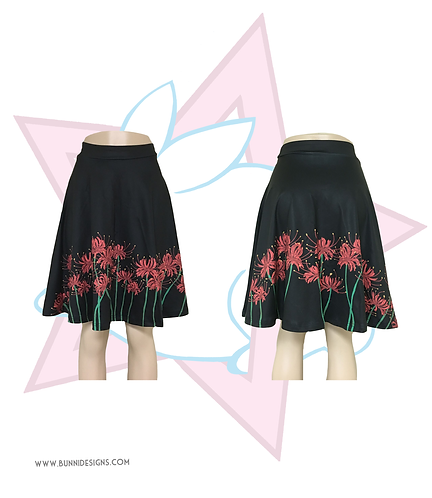 HIGANBANA FLOWERS | SKATER SKIRT | ORIGINAL