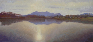 """Junaluska Sunset in November""18x4"