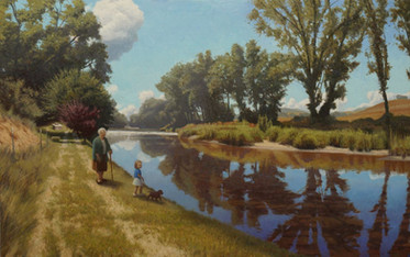 """Afternoon Walk by the Pigeon River"""