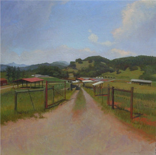 """""""Mountain Test Farm Afternoon Road"""""""