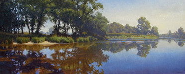 """Morning on the Pigeon River"""