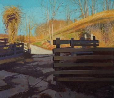 """""""Setting Sun on a Farm Hill"""""""