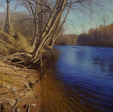"""A Sunny Riverbank in Winter"""