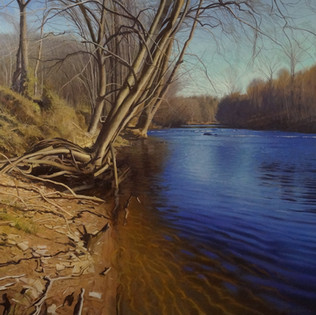 """""""A Sunny Riverbank in Winter"""""""
