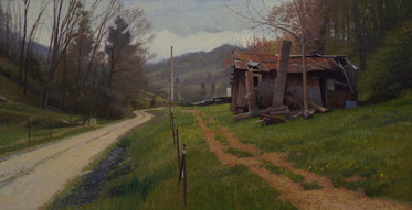 """""""Homestead Cloudy Morning Road"""""""
