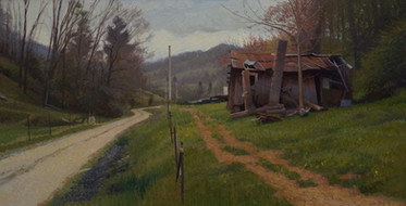 """Homestead Cloudy Morning Road"""