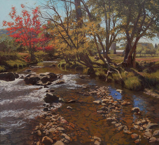 """Sparkling Riverbed in Autumn"""