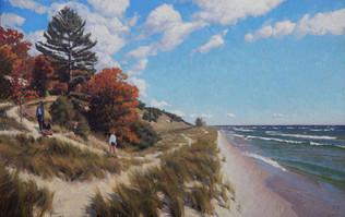 """Children on an Autumn Shoreline"""