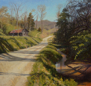 """Homestead Morning Tree Shadows"""