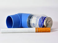 inhaler and cigarettes