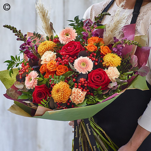 AUTUMN HAND-TIED BOUQUET MADE WITH THE FINEST FLOWERS