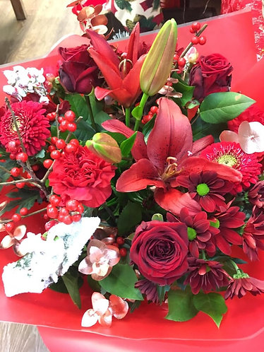 Red blossom Hand Tied