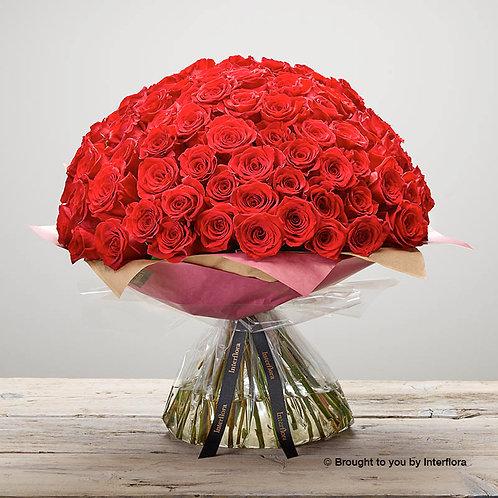 Unforgettable 100 Rose Hand-tied