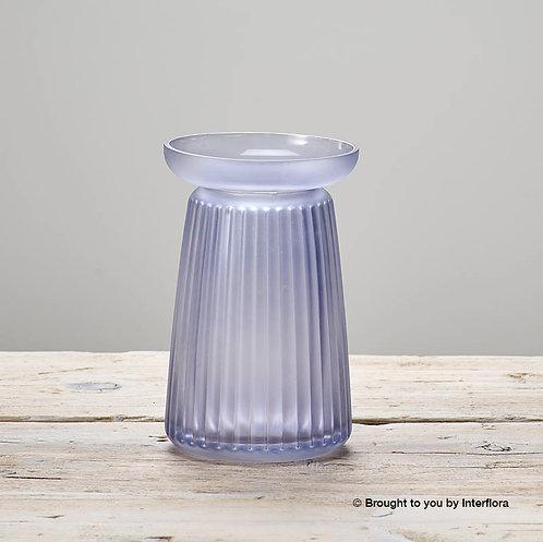 Corrugated Lilac Vase