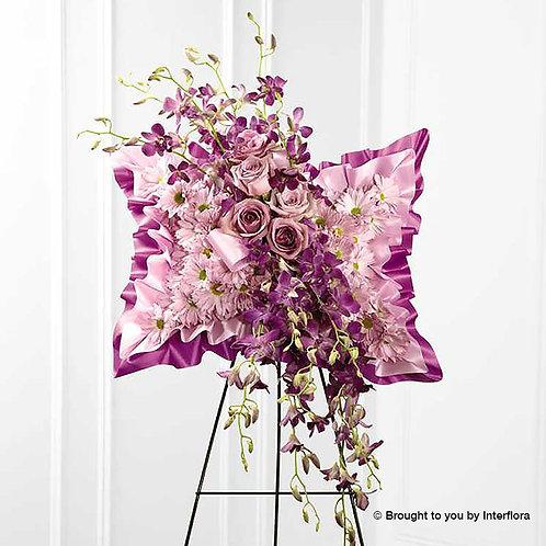 Pink Floral Pillow