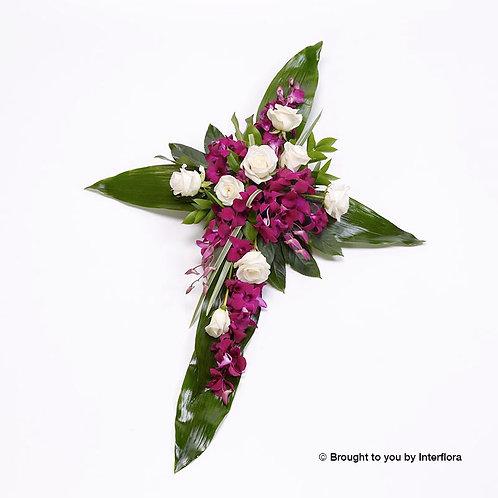 Rose and Aspidistra Cross