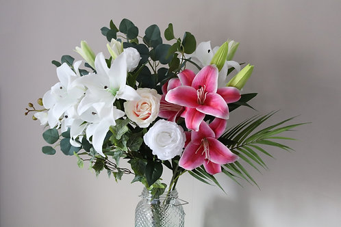 Rose and Lily Vase.