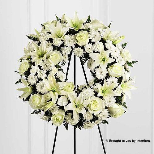 White Tribute Wreath