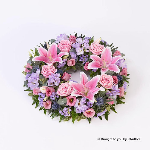 Rose and Lilly Wreath