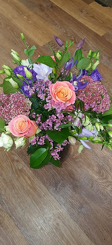 Vase arrangement - pastel shades.