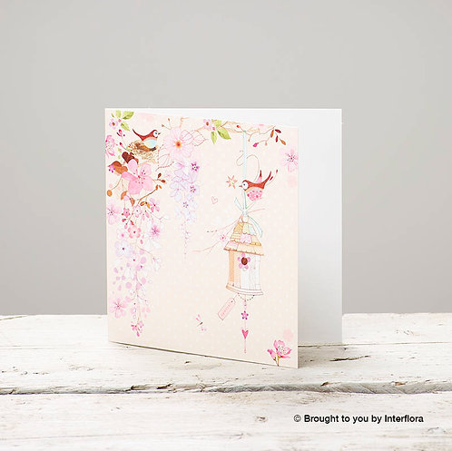 Bird Cage Greetings Card