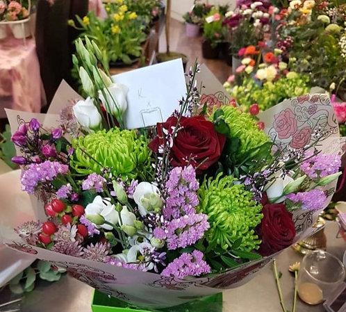 Hand Tied bouquet - seasonal