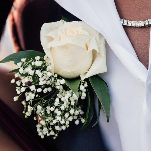 White rose Buttonhole.