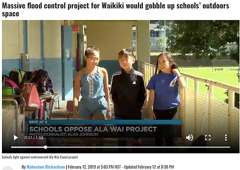 Ala Wai Canal Flood project will affect schools