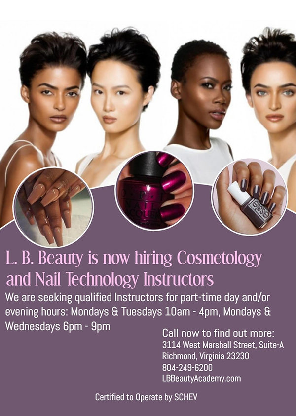 Hiring Nail and Cosmetology Instructors_