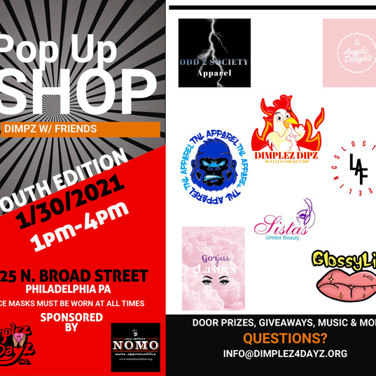 Youth Pop Up Shop 1/30/21