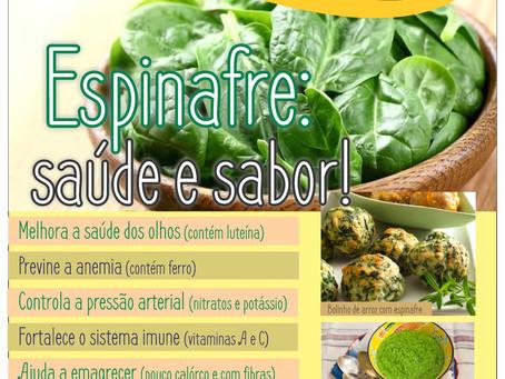 Espinafre, sabor e saúde!