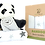 Thumbnail: BAMBU PANDA  MUSLIN SWADDLE - 3 PACK