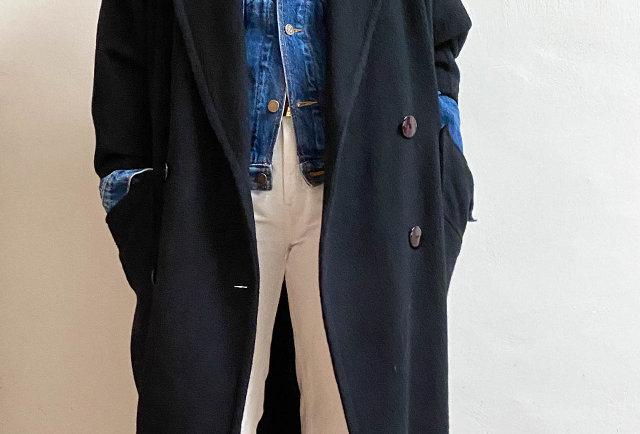 long manteau cachemire vintage | Hier Store