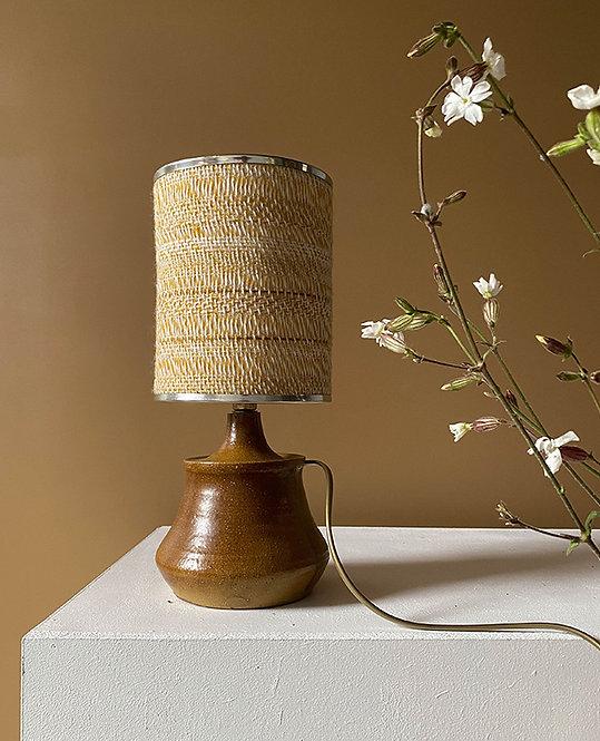 petite lampe vintage pied poterie gres