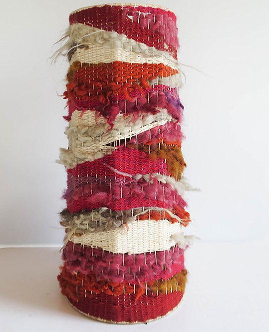 abat jour conique xxl laine tissage vintage