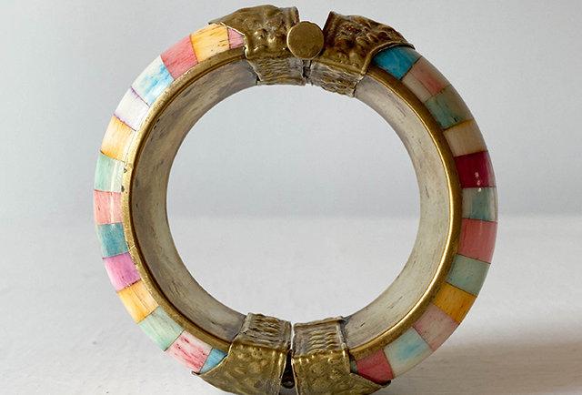bracelet ethnique os teinte multicolore | Hier store