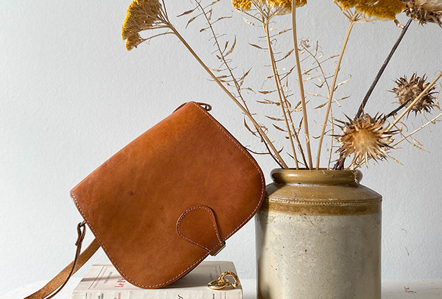 besace cuir vintage | hier Store