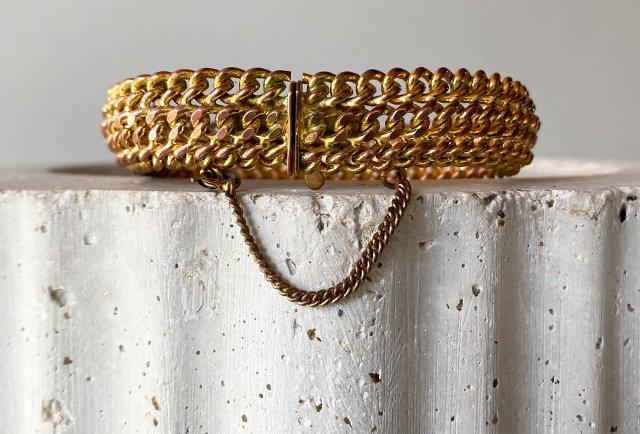bracelet maille américaine vintage | Hier Store