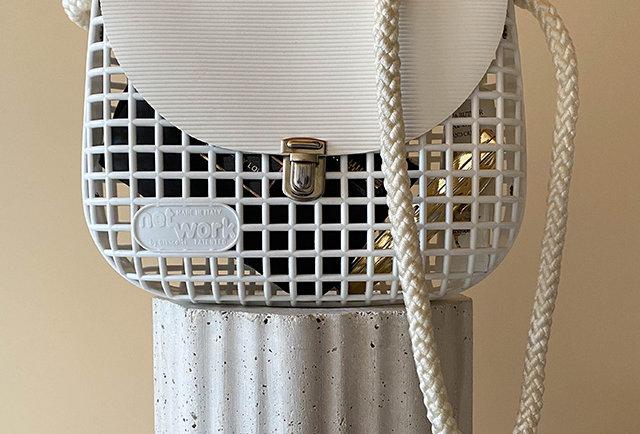 sac besace vintage Net Work design italien Giancotti
