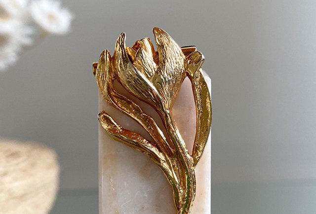 vintage flower brooch | Made in France