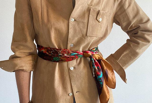 chemise en daim vintage 70s   Hier Store