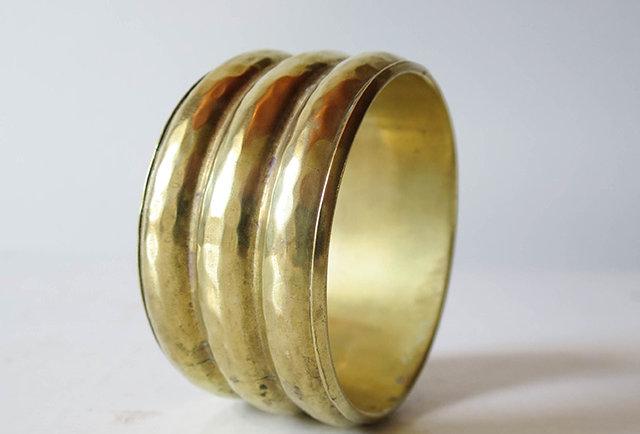 bracelet jonc laiton vintage | Hier Store