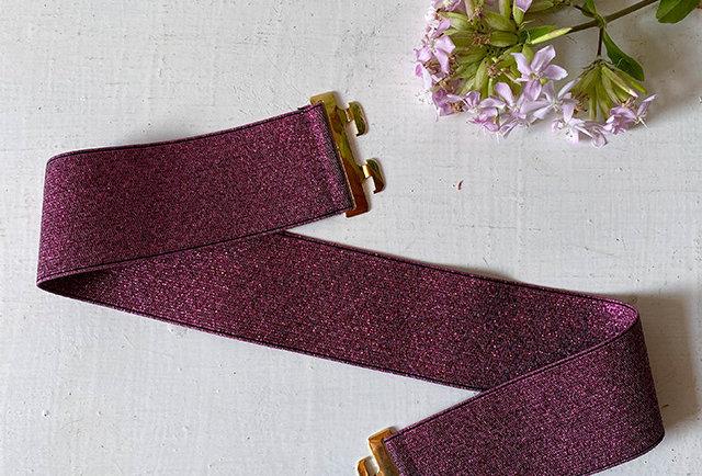 ceinture élastique lurex vintage