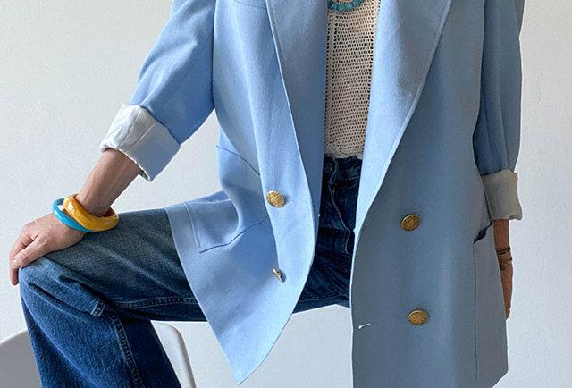 veste blazer oversize vintage 80 | Hier Store